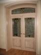 Дверь межкомнатная с фрамугой и витражом