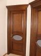 Дверь межкомнатная дубовая с овалом и капителью